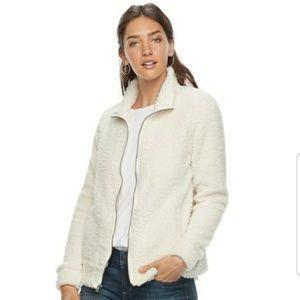 Sonoma Cream Sherpa Zip up Jacket